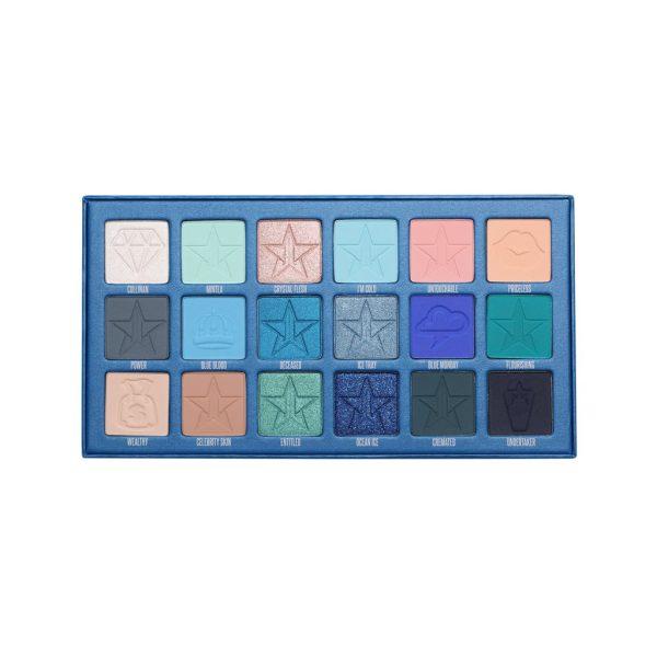 JEFFREE STAR Blue Blood Eyeshadow Palette Shades