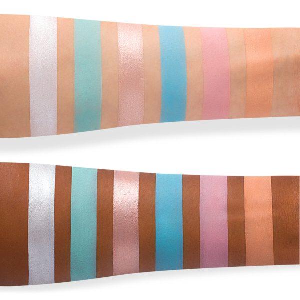 JEFFREE STAR Blue Blood Eyeshadow Palette Swatches 1