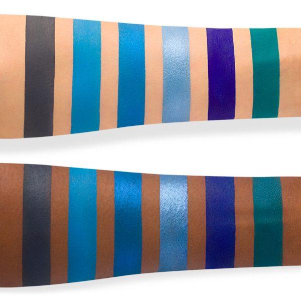 JEFFREE STAR Blue Blood Eyeshadow Palette Swatches 2