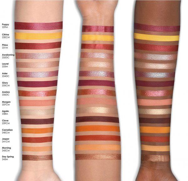 NATASHA DENONA Sunrise Eyeshadow Palette Swatches