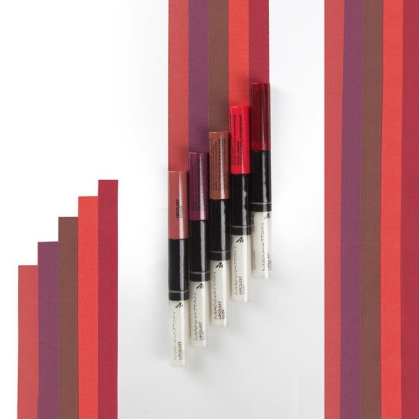 MANHATTAN Lips2Last Colour Gloss Long-Lasting Liquid Lipstick 2-Phasen
