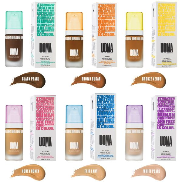 UOMA BEAUTY Say What Foundation 6 Color Chart