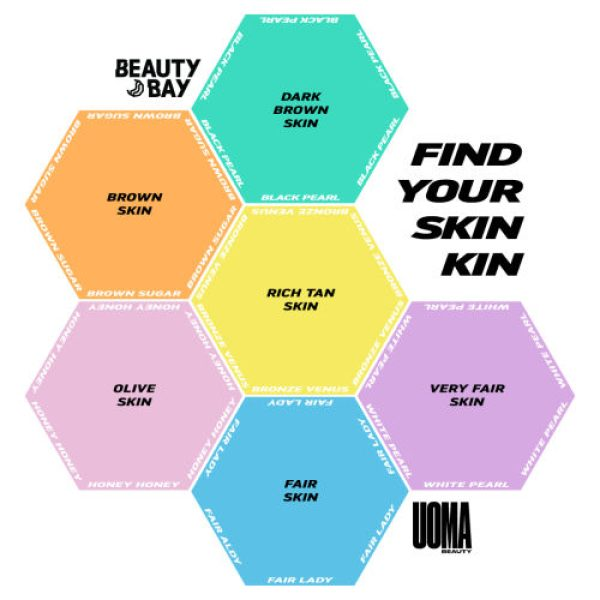 UOMA BEAUTY Say What Foundation Color Chart
