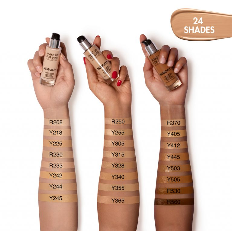 MAKE UP FOR EVER Reboot Active-Care-in-Foundation Swatches