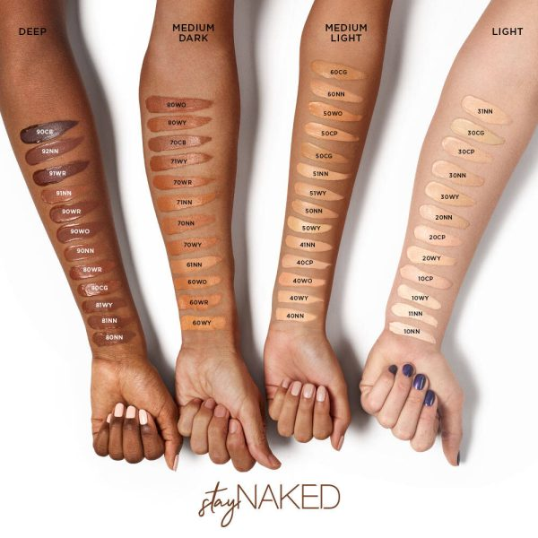 URBAN DECAY Stay Naked Weightless Liquid Foundation Swatches