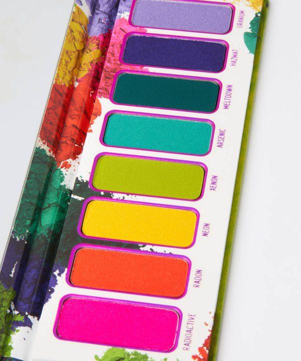 MELT COSMETICS Radioactive Pressed Pigment Palette Closeup