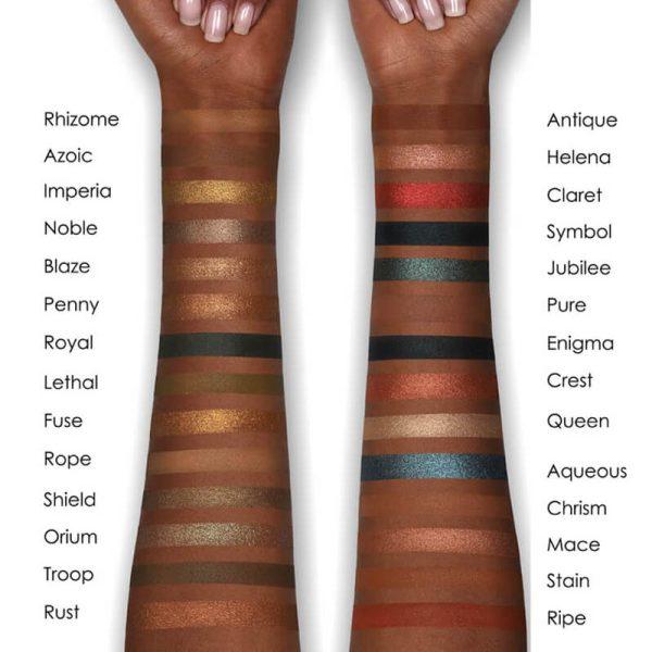 NATASHA DENONA Metropolis Eyeshadow Palette Swatches Dark Skintone