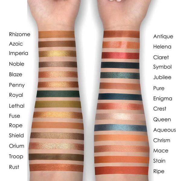 NATASHA DENONA Metropolis Eyeshadow Palette Swatches Light Skintone