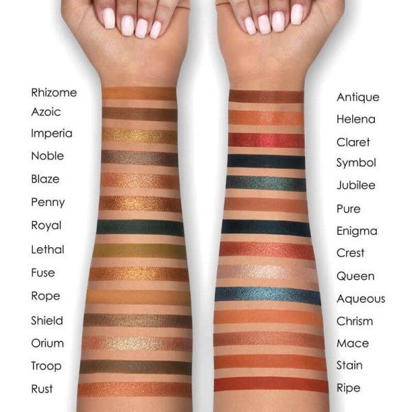 NATASHA DENONA Metropolis Eyeshadow Palette Swatches Medium Skintone