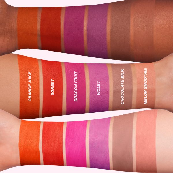 LIME CRIME Plushies Swatches Soft Matte Lipstick Bright Shades