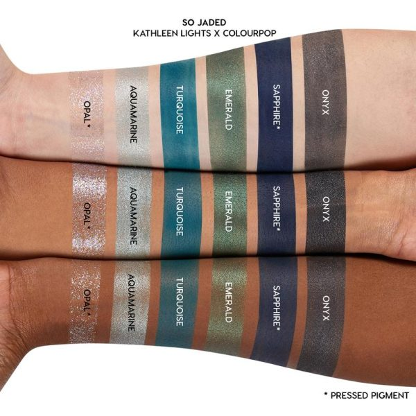 COLOURPOP So Jaded Eyeshadow Palette Swatches Blues
