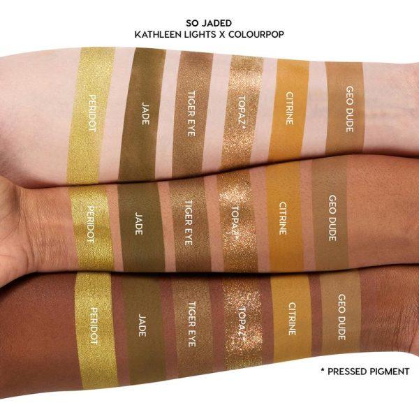 COLOURPOP So Jaded Eyeshadow Palette Swatches Greens