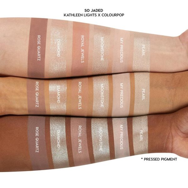 COLOURPOP So Jaded Eyeshadow Palette Swatches Neutrals