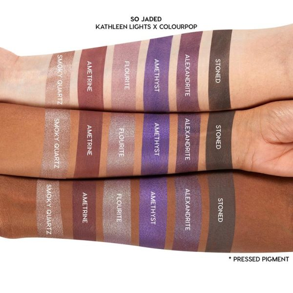 COLOURPOP So Jaded Eyeshadow Palette Swatches Purples