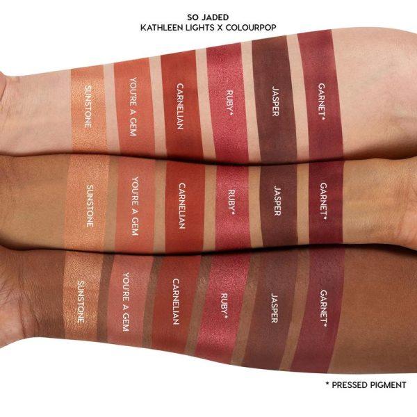 COLOURPOP So Jaded Eyeshadow Palette Swatches Reds