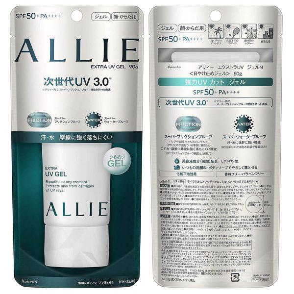 Kanebo ALLIE Extra UV Gel Mineral Moist Sunscreen SPF 50 plus PA4 SOnnenschutz Japan Verpackung