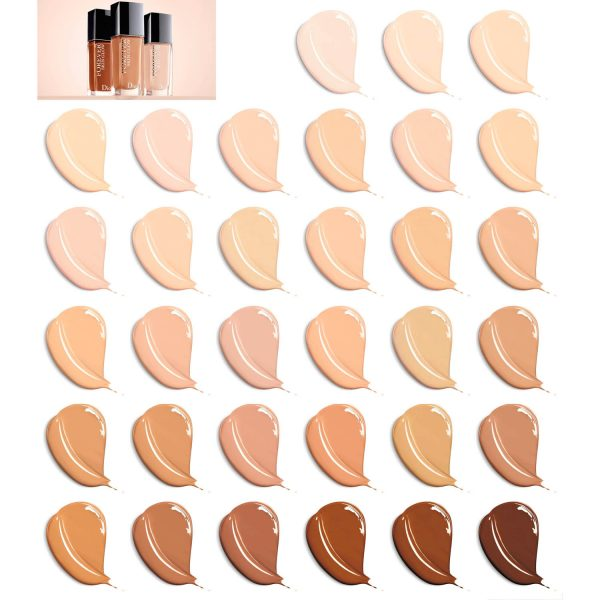 DIOR Forever Skin Glow Foundation Swatches welche Farbe Nuancen Colors Shades Farben