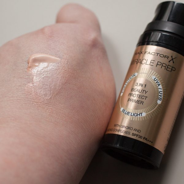 MAX FACTOR Miracle Prep 3 in 1 Beauty Protect Primer Textur Finish Glow Farbe