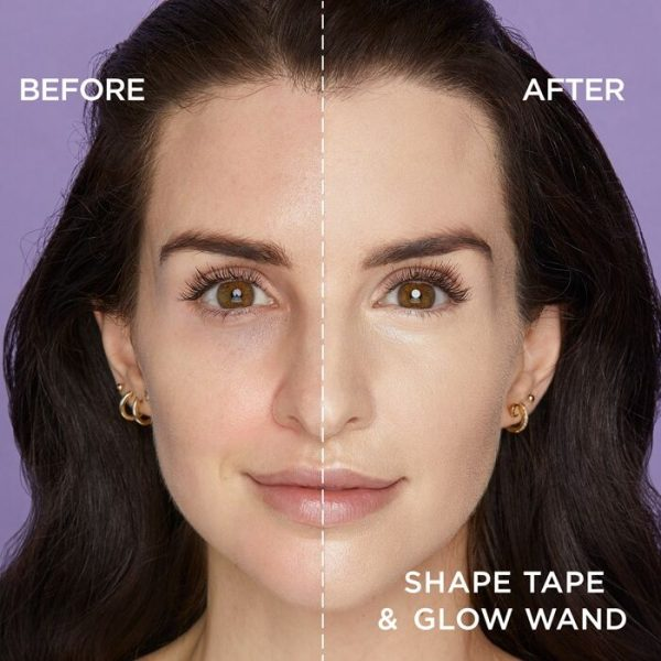 TARTE Shape Tape Glow Wand Highlighting Concealer before after