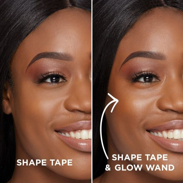 TARTE Shape Tape Glow Wand Highlighting Concealer with without dark