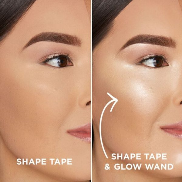 TARTE Shape Tape Glow Wand Highlighting Concealer with without medium