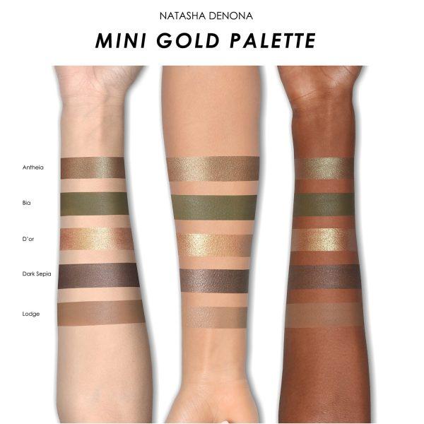 NATASHA DENONA Gold Palette Mini Eyeshadow Swatches Lidschatten Farben Colors