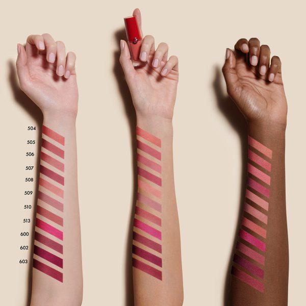 ARMANI Lip Magnet Matte Liquid Lipstick Swatches Cool