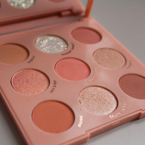 COLOURPOP Baby Got Peach Eyeshadow Palette Texture