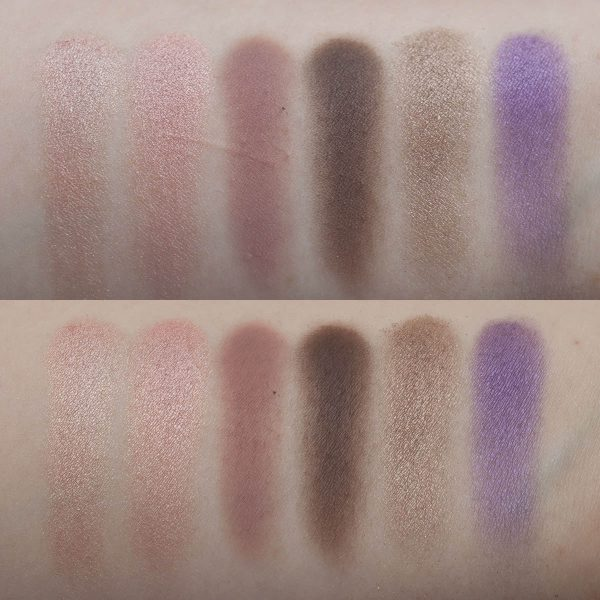 FENTY BEAUTY Snap Shadows 2 Cool Neutral Eyeshadow Palette Swatches Daylight Flash