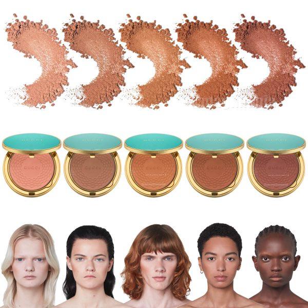 GUCCI Poudre de Beaute Eclat Soleil Bronzing Powder Bronzer Shades Colors Farben Nuancen Farbvergleich Swatches Skin