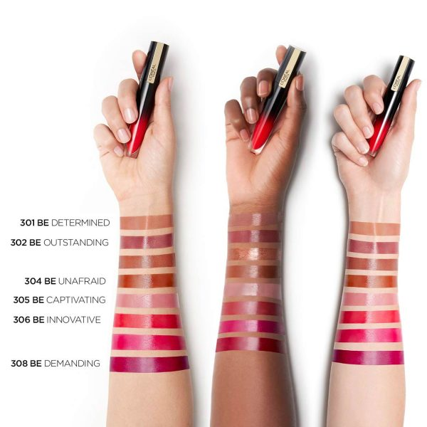 LOREAL Brilliant Signature Swatches High Shine Colour Lipstick
