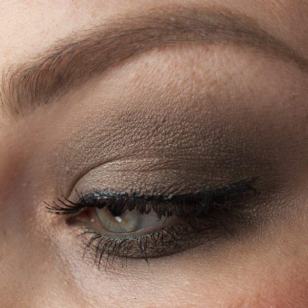 Khaki Eye Makeup Look: KIKO 104 Dark Forest Green Eyeliner LOV Space 220 Eyeshadow
