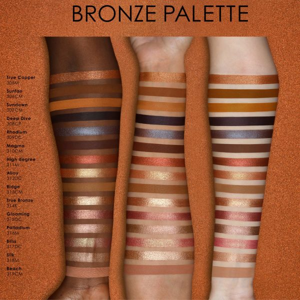 NATASHA DENONA Bronze Eyeshadow Palette Swatches Colors Farben