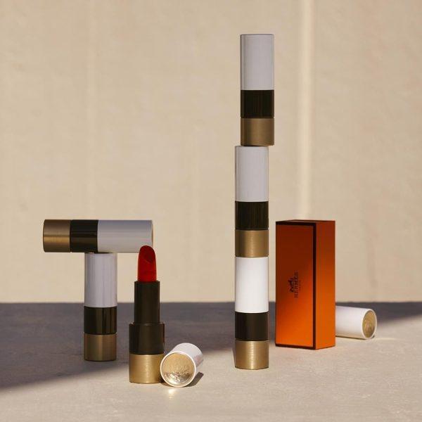 Rouge Hermes matte Lipstick Visual Packaging orange