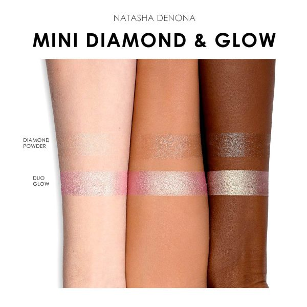 NATASHA DENONA Diamond Glow Mini Blush Highlighter Swatches