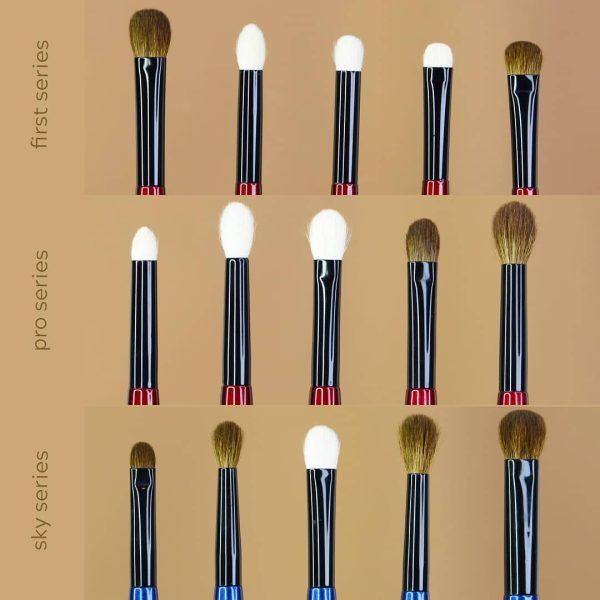 SONIA G Eyeshadow Brushes Comparison Size Vergleich Pinsel