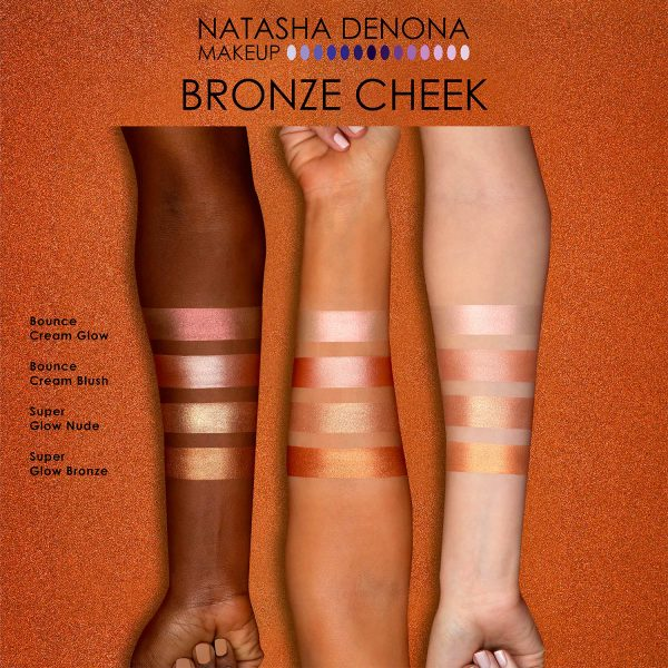 NATASHA DENONA Bronze Cheek Palette Contour Highlight Swatches