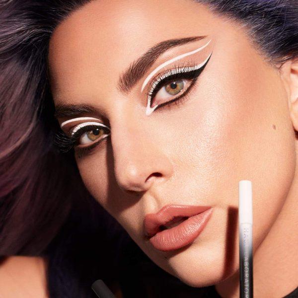 HAUS LABS Eye-Dentify Gel Pencil Eyeliner Black White Look Lady Gaga