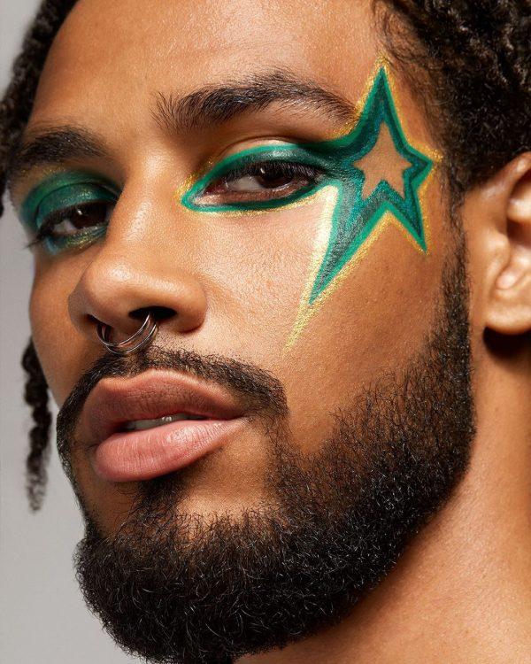 HAUS LABS Eye-Dentify Gel Pencil Eyeliner Green Look