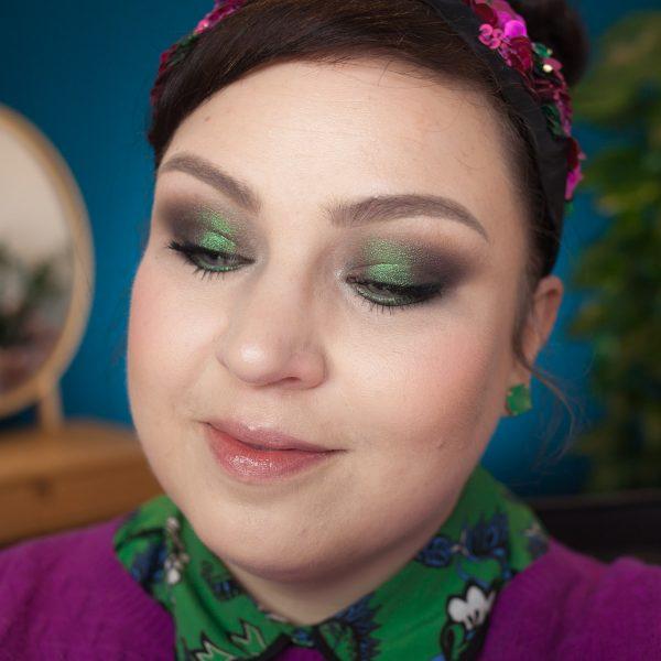 LINDA HALLBERG Enchanted Mysteries Eyeshadow Palette Multichrome Makeup green purple shift
