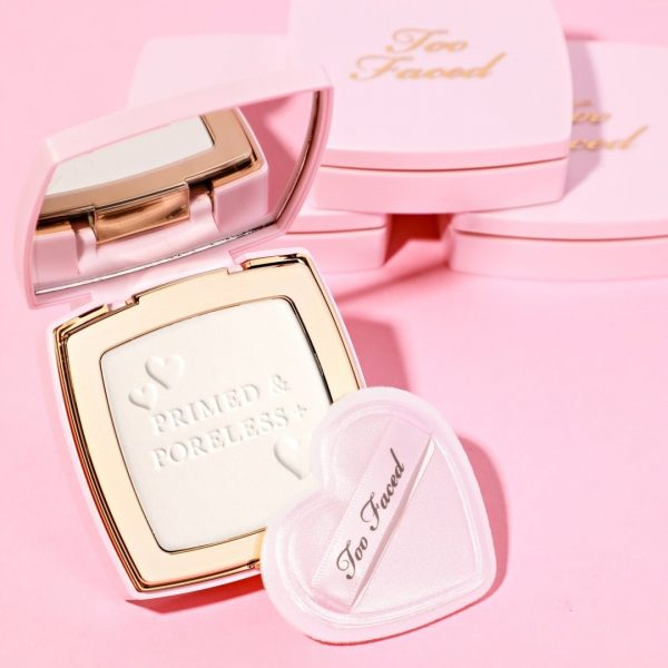 TOO FACED Primed Poreless Invisible Texture-Smoothing Face Powder Compact Puff