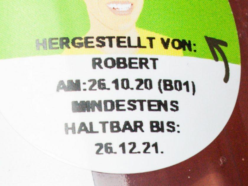 Kosmetik Haltbarkeit Siegel Sanduhr Sticker Datum