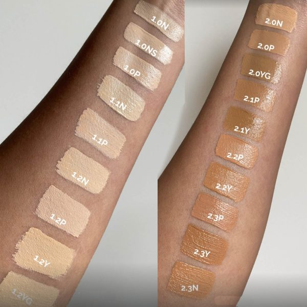 THE ORDINARY Concealer Swatches Fair Light Medium High-Coverage Formula Shades Colors Farben Nuancen
