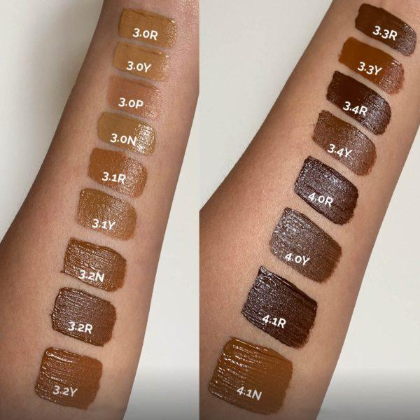 THE ORDINARY Concealer Swatches Medium Tan Dark Deep High-Coverage Formula Shades Colors Farben Nuancen