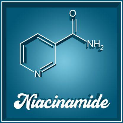 Niacinamid Molekül Molekularstruktur Niacinamid Molecule