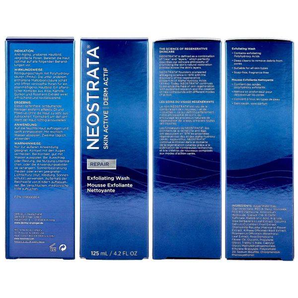 NEOSTRATA Skin Active Exfoliating Wash PHA Waschschaum chemisches Peeling Reinigungsschaum Karton