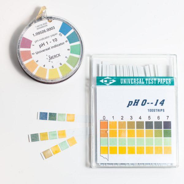 pH-Wert Teststreifen 0 - 14 sauer basisch Kosmetik pH testen Messstäbchen