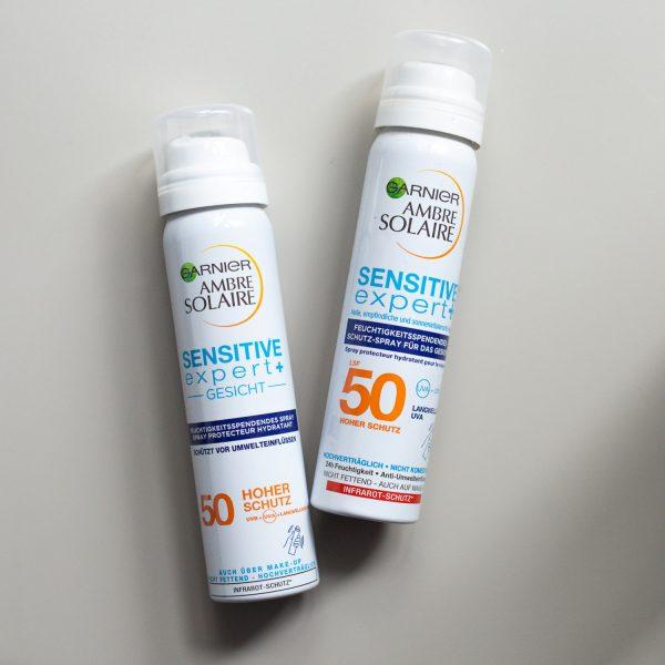 GARNIER AMBRE SOLAIRE Over Makeup Super UV Spray SPF 50 LSF Sensitive expert Gesicht Sonnenschutz