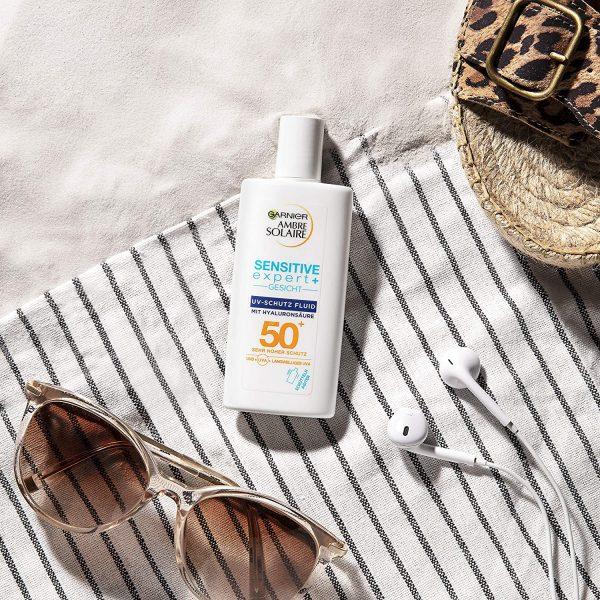 GARNIER AMBRE SOLAIRE Sensitive expert+ Gesicht UV-Schutz Fluid SPF 50 Ambient