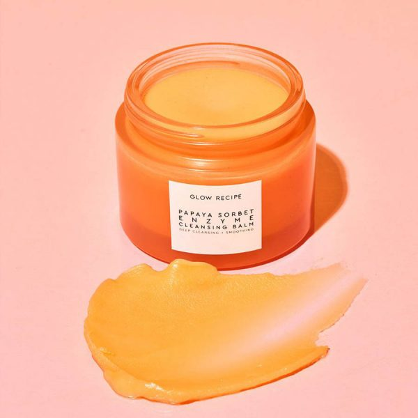 GLOW RECEIPE Papaya Sorbet Enzyme Cleansing Balm Oil Ambient